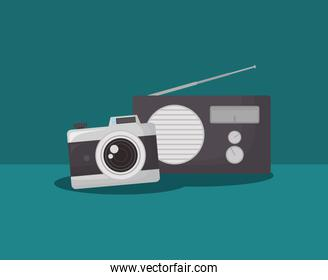 camera and radio icon