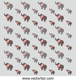 cute elephants pattern