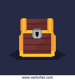 Pixelated and videogame design icon vector ilustration