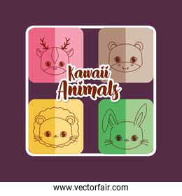 kawaii animals design