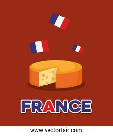 france culture card with cheese