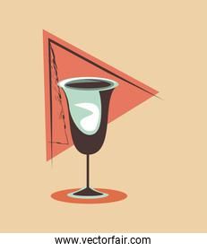 glass cup alcohol drink retro vintage