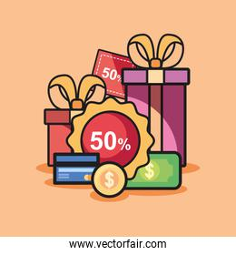 shopping and gift box design