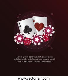 casino poker card aces dices and chips gambling