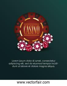 casino poker luxury chip and dices