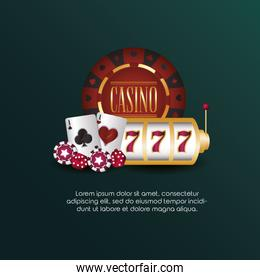 casino poker slot machine cards and chips game