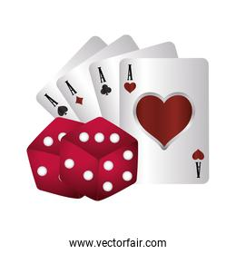casino poker suits card aces dices