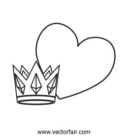 crown and heart design
