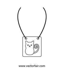 necklace with cat icon