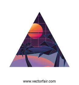 geometric abstract landscape