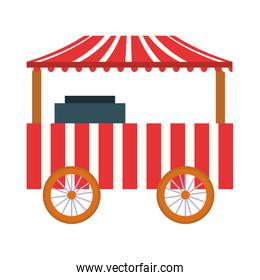 circus park booth with wheel carnival festival