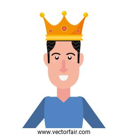 man portrait with crown character