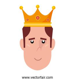 face man with crown