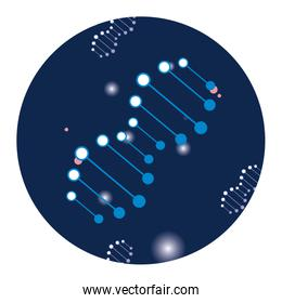 dna genetic material science sticker