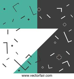 creative geometric abstract memphis background