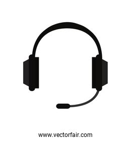 headset microphone on white background