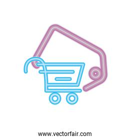 online shopping cart tag price