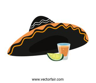 mexican hat lemon and tequila