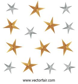gold and silver stars decoration background