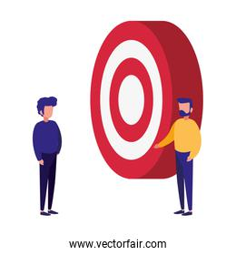 businessmen and target company success