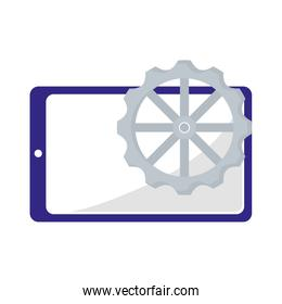 smartphone device gear on white background