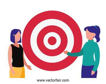 businesswomen and target company success