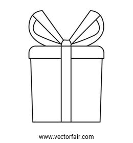 wrapped gift box on white background