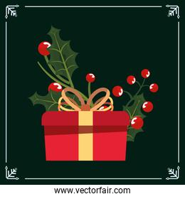 christmas gift box floral decoration