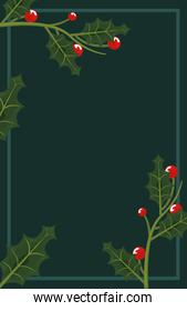 christmas holly berry template background