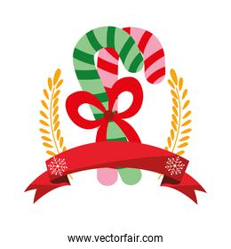christmas candy canes leaves ribbon decoration
