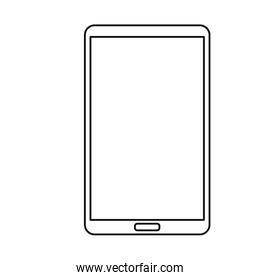smartphone device on white background