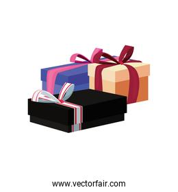 wrapped gift boxes party celebration