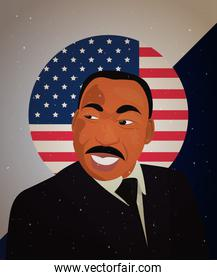 martin luther king jr portrait