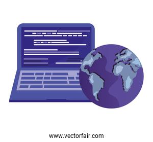 laptop computer and world