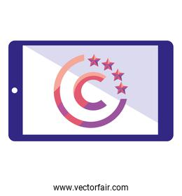 copyright of intellectual icon vector ilustration