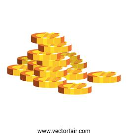 stacked gold coins money