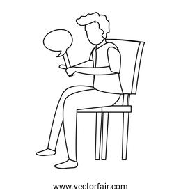 man with speech bubble