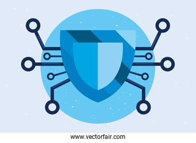 cyber security concept vector ilustration