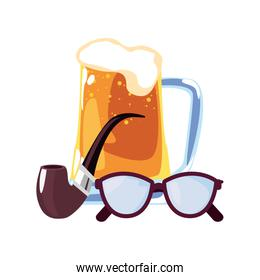 happy fathers day icon vector ilustrate