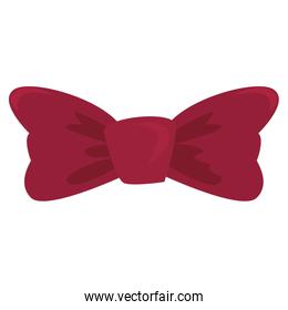 red bow tie wear vector ilustration vector ilustration