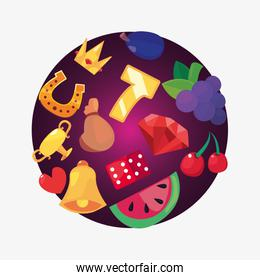 casino game bets vector ilustration