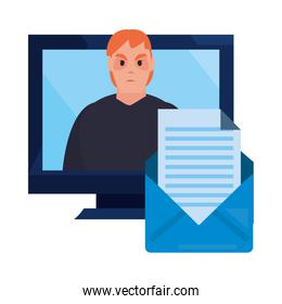 cybersecurity data protection vector ilustration