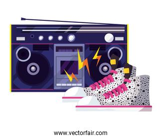 retro 80s style vector ilustration