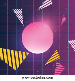 retro memphis background vector ilustration