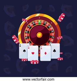 roulette ace cards chips casino and gambling