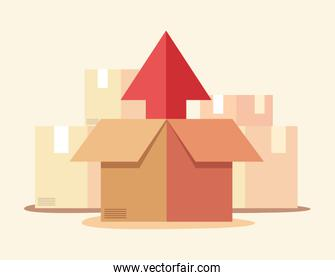 fast delivery related vector ilustration