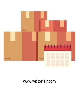 fast delivery cardboard boxes calendar
