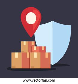 fast delivery logistic icon vector ilustrate