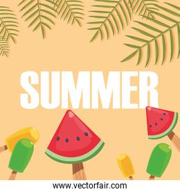 hello summer background popsicles cold fresh