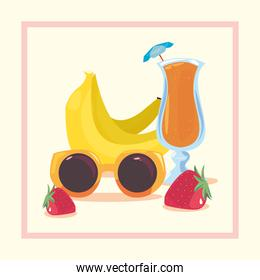 summer time holiday vector ilustration